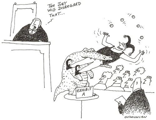 Cartoon: courts and stuff (medium) by ouzounian tagged courts,witnesses,lawyers,judges