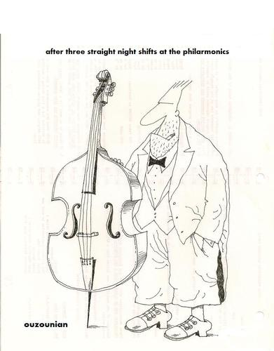 Cartoon: overtime and stuff (medium) by ouzounian tagged workers,overtime,musiciens,labourers,orchestre