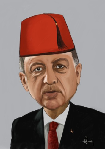 Cartoon: Erdogan (medium) by cristianst tagged caricature,erdogan