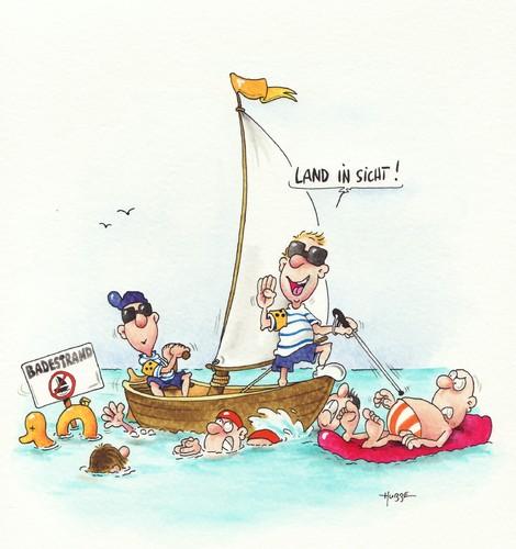 Cartoon: segeln blind (medium) by ms rainer tagged segeln,blind,baden