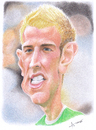 Cartoon: Joe Hart (small) by arez tagged caricature karikatur joe hart goalkeeper
