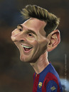 Cartoon: Lionel Andres Leo Messi (small) by arez tagged caricature karikatur fcb barca barcelona argentina