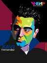 Cartoon: Xavi on WPAP (small) by arez tagged xavi wpap barcelona fcb barca