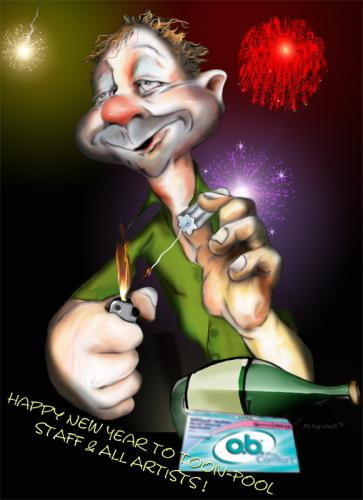 Cartoon: Happy New Year (medium) by KryCha tagged new,year