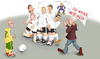 Cartoon: Freistoss (small) by KryCha tagged footbal,mauer,wall,mauerfall,wm
