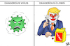 Cartoon: Covid 19 and Trump (small) by Vejo tagged trump,covid19,corona,virus,mad,president,usa