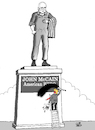 Cartoon: John McCain (small) by Vejo tagged john,mccain,passed,away,trump,no,respect,hero,jealousy,childish,infantil