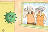 Cartoon: STAY AT HOME (small) by Vejo tagged covid19,coronavirus,home,health,catastrophe