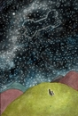 Cartoon: Sternbild -constellation- (small) by motoko tagged hund,dog,stern,star,himmel,sky,night,knochen,boon,romantik