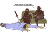Cartoon: Ninja (small) by Arne S Reismueller tagged ninja,moslem,muslim,islam