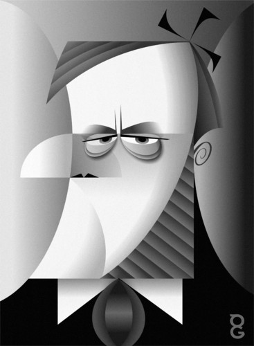 Cartoon: Richard Wagner (medium) by spot_on_george tagged caricature,wagner,richard