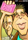 Cartoon: Fight Club (small) by spot_on_george tagged fight club brad pitt edward norton caricature