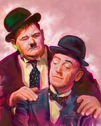 Cartoon: Laurel and Hardy Famous Comedian (medium) by McDermott tagged tvland,comedy,laurelandhardy,famouscomedian,funny,oldmovies