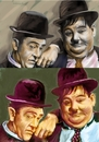 Cartoon: Laurel and Hardy Famous Comedian (small) by McDermott tagged laurelandhardyfamouscomedian