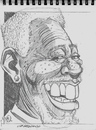 Cartoon: Morgan Freeman (small) by McDermott tagged caricature,sketch,morganfreeman,movies,tv,clinteastwood,shawshank,drawing,sketchbook,mcdermott,pencil