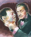 Cartoon: Vincent Price (small) by McDermott tagged vincertprice,horror,movies