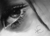 Cartoon: eye and love (small) by ressamgitarist tagged drawing,portrait,photoshop