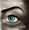Cartoon: green eye (small) by ressamgitarist tagged drawing,portrait,photoshop