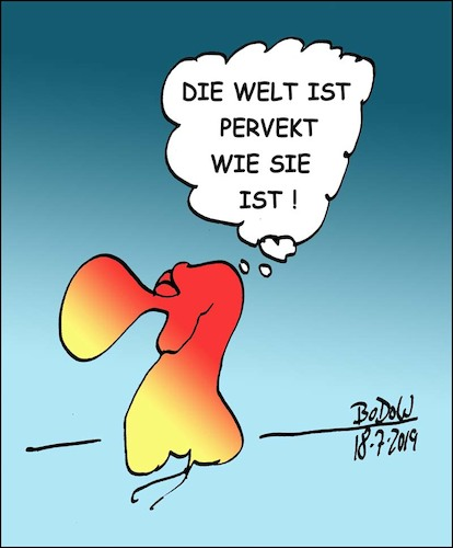 Cartoon: ... pervekt! (medium) by BoDoW tagged perfekt,perfektionismus,welt,philosophie,positivismus,positiv,sein,haltung