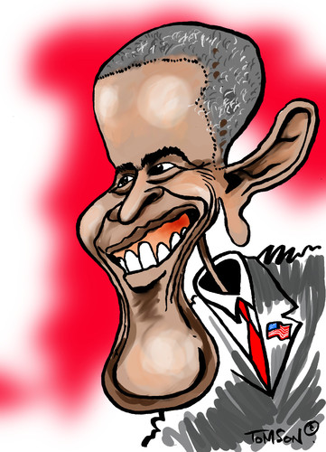 Cartoon: ... (medium) by to1mson tagged barack,obama,usa,amerika,stany