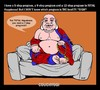 Cartoon: CouchYogi Total Happiness! (small) by MoArt Rotterdam tagged couchyogi,totalhappiness,advice,spiritualadvice,selfhelpbook,5stepprogram