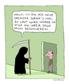 Cartoon: Besuch vom Sensenmann 2 (small) by Huse Fack tagged gevatter,tod,sensenmann