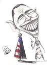 Cartoon: the teeth of Obama or USA (small) by RahimAdward tagged obam,rahim,adward,syria,teeth,tomahook,war,terrorism,middel,east