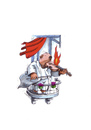 Cartoon: Star Violinist (small) by Mehmet Karaman tagged geige musik musiker feuer balkon