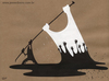 Cartoon: Peace2 (small) by Jesse Ribeiro tagged conflicts,war,peace,oil,flag,people,democracy