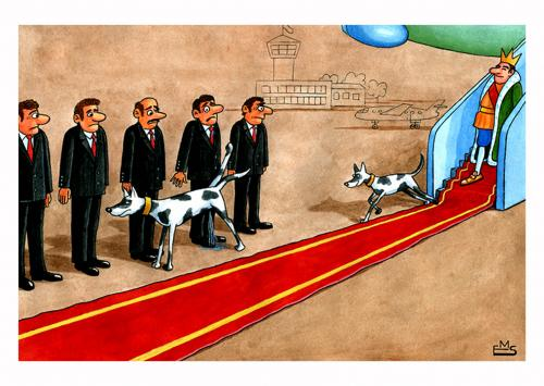 Cartoon: Dogs of the king (medium) by Makhmud Eshonkulov tagged king,monarchy,society,dogs,pets