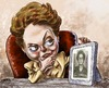 Cartoon: Dilma Rousseff (small) by Bob Row tagged dilma,rousseff,brazil,caricature