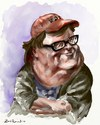 Cartoon: Michael Moore (small) by Bob Row tagged moore,filmmaking,caricature