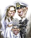 Cartoon: Royal wedding plus Tevez (small) by Bob Row tagged royal wedding kate william carlitos tevez