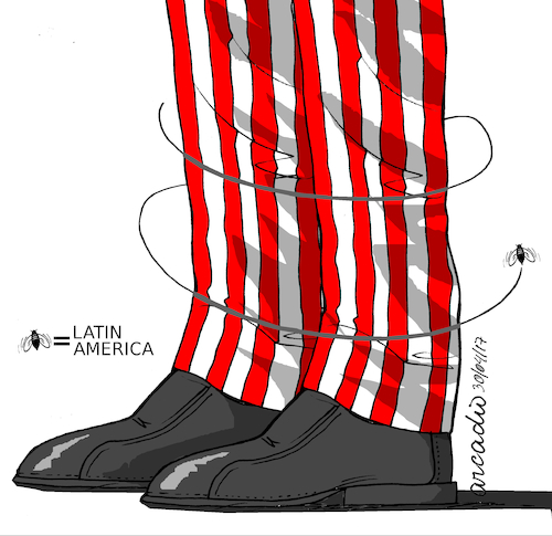 Cartoon: USA and Latin America. (medium) by Cartoonarcadio tagged usa,latin,america,relationship,commerce
