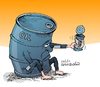 Cartoon: Crisis of the oil prices. (small) by Cartoonarcadio tagged evo,morales,bolivia,south,america,socialism,comunism