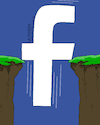 Cartoon: Facebook in decline. (small) by Cartoonarcadio tagged facebook,social,net,internet