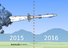 Cartoon: New year-same wars. (small) by Cartoonarcadio tagged wars,weapons,conflicts,missils,peace,dialogue