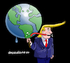 Cartoon: Owner of the world. (small) by Cartoonarcadio tagged trump,world,conflict,ego,white,house