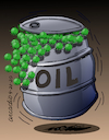 Cartoon: Pop corn in oil. (small) by Cartoonarcadio tagged oil,opec,energy,gas