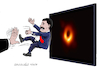 Cartoon: Testing the black hole discovere (small) by Cartoonarcadio tagged maduro venezuela black hole communism