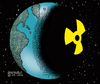 Cartoon: The dark side of the earth. (small) by Cartoonarcadio tagged world,planet,energy,danger,nuclear,power