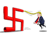 Cartoon: The extremist Trump. (small) by Cartoonarcadio tagged trump us government washington