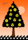 Cartoon: The sad Christmas tree. (small) by Cartoonarcadio tagged pollution,globar,warming,planet,earth