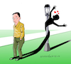 Cartoon: The shadow is falling in love. (small) by Cartoonarcadio tagged humor park comic love nature