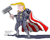 Cartoon: Thormp. (small) by Cartoonarcadio tagged trump,trade,war,washington,white,house,economy,money