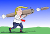 Cartoon: Trade war. (small) by Cartoonarcadio tagged trump,weapons,trade,economy