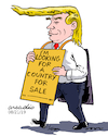 Cartoon: Trump in shopping days. (small) by Cartoonarcadio tagged something surreal