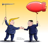 Cartoon: Trump Kim Summit. (small) by Cartoonarcadio tagged trump hanoi kim usa