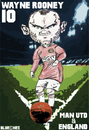 Cartoon: Wayne Rooney Man Utd and England (small) by bluechez tagged football premiership manchester united wayne rooney england striker