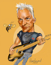Cartoon: Sting caricature (small) by Harbord tagged sting bass plaer famous police singer